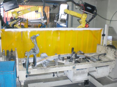 奔驰,宝马铝合金保险杠焊接工作站